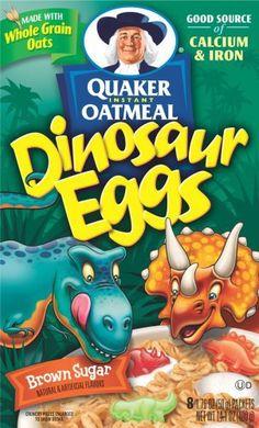 Dinosaur Eggs... in your oatmeal!