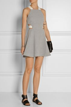 Elizabeth and James | Kayne textured-knit mini dress | NET-A-PORTER.COM
