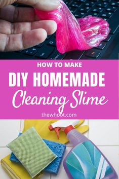 This Cleaning Slime Recipe is easy to make and works in all those hard to get spots! We have a quick video to show you how. View now. Car Cleaning Hacks, Household Cleaning Tips, Cleaning Recipes, Cleaning Pans, Cleaning Solutions, Homemade Cleaning Products, Natural Cleaning Products, Diy Cleaners, Cleaners Homemade