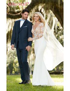 2016 Spring New Design Modern Sexy Bridal Separates Vestido De Noiva sexy silhouette combination features Blake bodysuit