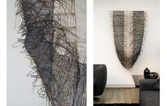 Herring Smile | Horsehair and waxed cotton | design and made by M.Kemp