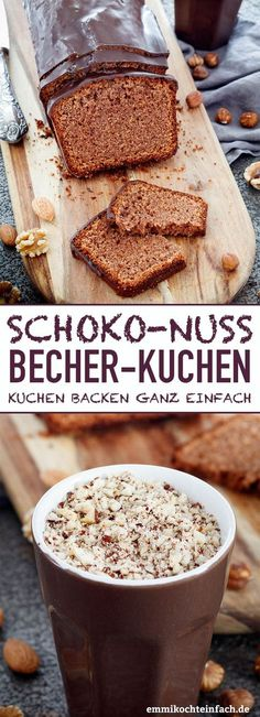 Schoko-Nuss Becherkuchen Schoko Nuss Becherkuchen www.emmikochteinf The post Schoko-Nuss Becherkuchen appeared first on Kuchen Rezepte. Easy Cupcake Recipes, Mug Recipes, Cookie Recipes, Dessert Recipes, Macaroni Recipes, Soap Recipes, Cupcakes, Cake Mix Cookies, Cookies Et Biscuits