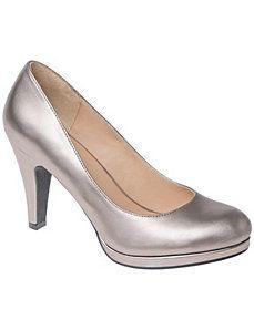 Wide Width Metallic Heels: by Lane Bryant...$59.95
