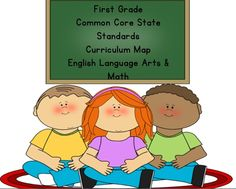 First Grade Common Core English Language Arts AND Math Curriculum Map Classroom Projects, Classroom Ideas, Curriculum Mapping, School Clipart, Time Kids, English Language Arts, First Grade, Grade 1, Preschool Crafts