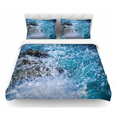 East Urban Home La Jolla Shores by Juan Paolo Featherweight Duvet Cover Size: Queen