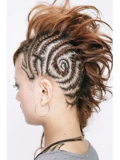 intricate cornrow mohawk