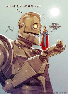 Superman Meets the Iron Giant