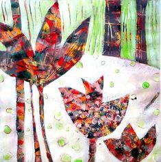 Acrylic painting -  Lucky Spring / Acrylmalerei -  fröhlicher Frühling