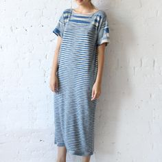 Lauren Manoogian Space Tall Tee Dress Indigo