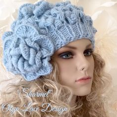 "Вязаный берет ""Sharmel"" от Olga Lace. #crochet #knitting #olgalace #designer #accessories #hat #кружевнойберет #вязаныйберет #fashion #style #olgalacestyle"