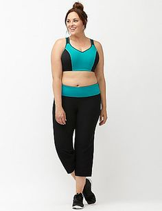 Designed to run, jump and train, our molded underwire sport bra offers  high impact support for game-changing comfort. Convertible straps  provide versatile wearing options while molded cups keep your shape  during your active day. Bra back closure. <br /> <em><br /> Expert fit tip: Our sport bras are now available in cup sizes, so you  can get the perfect fit for your active lifestyle. A snug fit is your  best bet for reducing bounce.</em><em></em> lanebryant.com