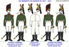 Dragoni Rgt. Napoleone e Rgt. della Regina 1812-1813