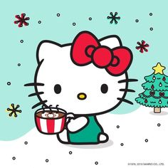 Hello Kitty Vans, Hello Kitty Clothes, Hello Kitty My Melody, Hello Kitty Christmas Tree, Christmas Cats, Hello Kitty Pictures, Kitty Images, Cute Wallpaper Backgrounds, Cute Wallpapers