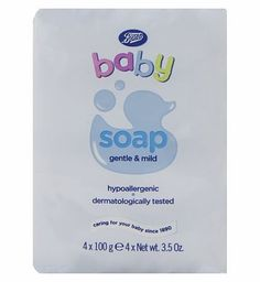 Boots Baby Soap 4 x 100g 10166615 4 Advantage card points. Boots Baby Soap is a mild cleansing bar, to delicately cleanse and care for your baby. FREE Delivery on orders over 45 GBP. (Barcode EAN=5045095788155) http://www.MightGet.com/april-2017-1/boots-baby-soap-4-x-100g-10166615.asp