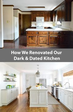 Full Kitchen Renovation & Makeover - Changing The Layout, New Cabinets & Counters, Adding Open Shelves, And Even Hiding A Mudroom For Shoe & Backpack Storage renovation Layout Kitchen On A Budget, New Kitchen, Kitchen Decor, Kitchen Ideas, Kitchen Planning, Awesome Kitchen, Kitchen Furniture, Kitchen Storage, Layout Design