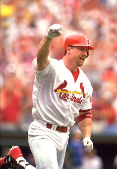 Mark Mcgwire ! I don't care what happened, all I know, is baseball was really fun when he played for the Cardinals!