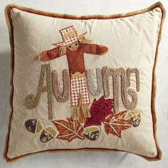 Celebrate the fun that autumn brings with our playful scarecrow pillow. Everyone from children to those young at heart will chuckle at this whimsical salute to the season.
