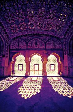 Purple shadows, purple lights in Morocco #ethnic #ceiling