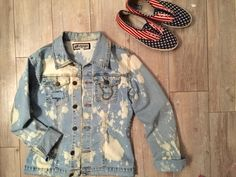 ac25b916 Custom Acid Washed Blue Denim Jacket Shop on Vinted.com Love Clothing, Blue  Denim