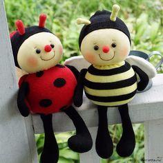 Bee. Coser los juguetes de los calcetines (1) (620x625, 223KB)