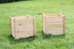 DIY Square Cedar Planters