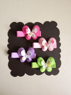 Spring Butterfly Hair Clips-Girl Hair Clips- Toddler Hair Clips-Baby Hair Clip-Newborn Hair Clip