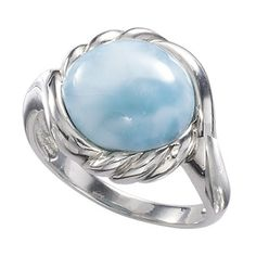 Atlantean Larimar Ring ($100) ❤ liked on Polyvore featuring jewelry, rings, pendant jewelry, fancy jewellery, celtic pendants, celtic jewelry and gothic rings