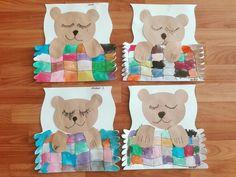 Kindergarten Art Lessons, Preschool Art Activities, Collaborative Art Projects, Kindergarten Art Projects, Classroom Art Projects, Art Classroom, K Crafts, Bear Crafts, Alphabet Crafts