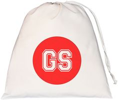 Netball Goal Shooter Large Drawstring Bag