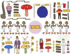 How to make a sticker. Charlie And The Chocolate Factory Stationery And Sticker Set - Step 4