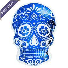 Sugar Skull Plush in Metallic Blue