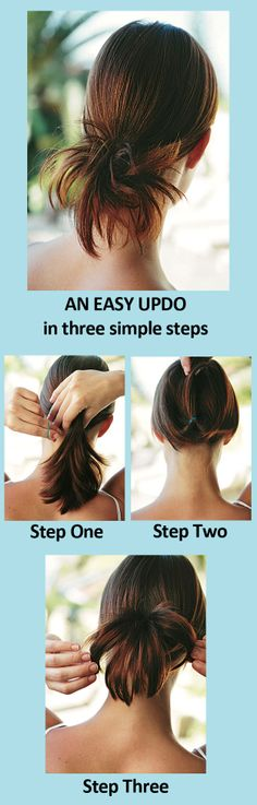 An easy summer updo you can do in just 3 steps!