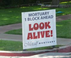 I believe this was the sign in the St. George Marathon that I ran in 2012!  : )