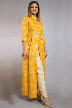 When to wear: suitable for a casual party and meet up, college and office going girls can also wear for a change. silk, satin fabric kurtis are great for