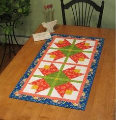 Tiptoe Tulips Table Runner - Quilting Digest