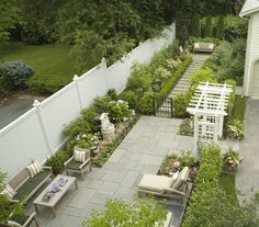 Garden Ideas Long Narrow love the fencing idea. long narrow garden. garden fencing trellis