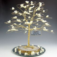 Personalized Wedding Cake Topper Tree Sculpture Extra Large Size | byapryl - Wedding on ArtFire