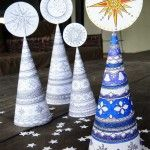 3D Christmas Tree Colouring Page for Grown Ups