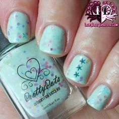 Lazy Lacquerista: Pretty Pots Swatch :: Mintberry Macaron from What's In-Die Box February 2014