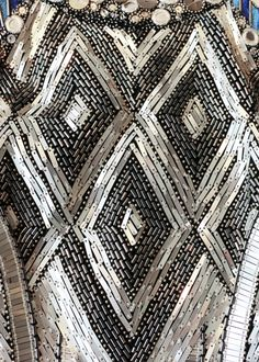 Close up detail of the Matthew Williamson PF15 Fontaine Mirror Embroidered Gown. Click to shop the look.