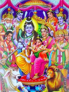 Lord Shiva Family with other gods