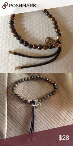 ✨MICHAEL KORS TIGER EYE ADJUSTABLE BRACELET Beautiful multicolored brown adjustable bracelet. Michael Kors Jewelry Bracelets