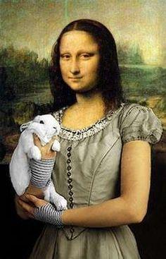 Mona Lisa - Mona Cute Bunny