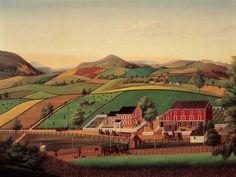 John Rasmussen (1828–1895)  Berks County, Pennsylvania  c. 1879–1886  Oil on zinc-plated tin  26 3/8 x 35 3/8 in.  American Folk Art Museum, gift of Ralph Esmerian, 2005.8.15