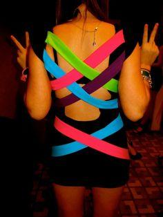 Black Light Party Dress