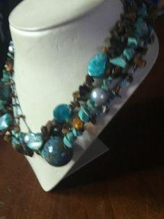 Simple Vintage Navajo Three Strand Turquoise Bead Necklace | eBay