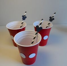 Mickey inspired cups