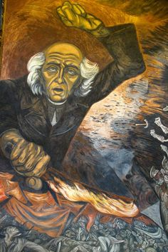 Father Miguel Hidalgo - the father of Mexican independence. Mural by Jose Clemente Orozco
