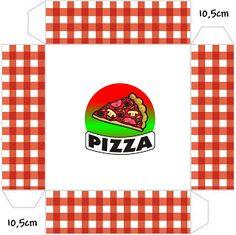 Fiesta de pizza: cajas para regalo, comida e invitaciones. Printable Box, Templates Printable Free, Free Printables, Birthday Themes For Boys, Kids Party Themes, Boy Birthday Parties, Pizza Party, Box Invitations, Pizza Boxes