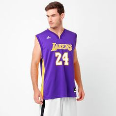 Camiseta Regata NBA Adidas Los Angeles Lakers Road - Bryant - Roxo